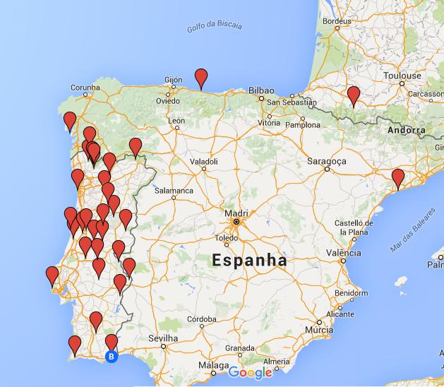 mapa portugal campismo Campismo Portugal Mapa | thujamassages mapa portugal campismo
